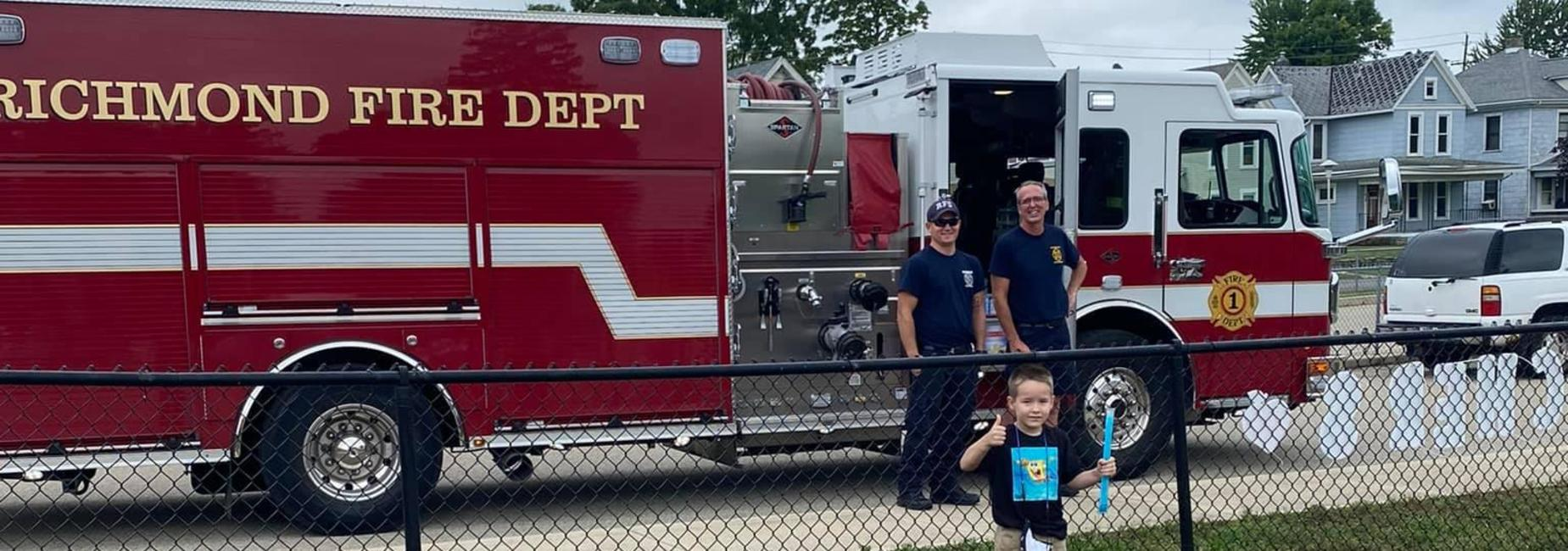 RFD dropping off popsicles at Starr Elementary.