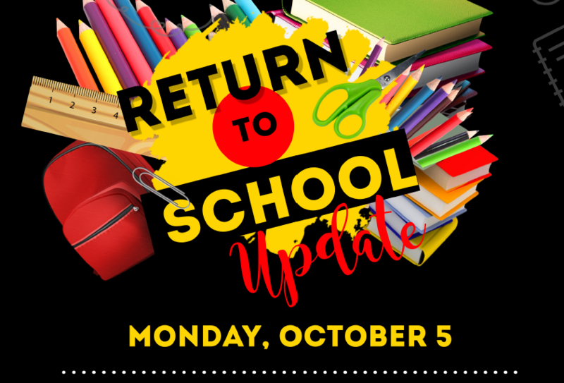 Return to School Monday, 10/5/20 Featured Photo
