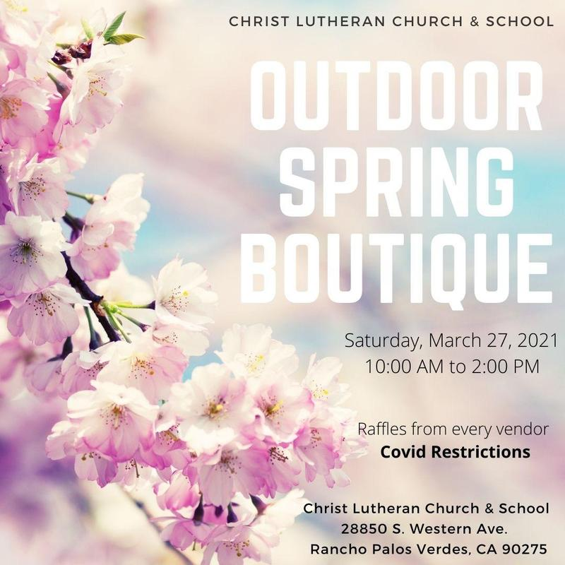 Outdoor Spring Boutique - Saturday, March 27 from 10:00 am -2:00 pm Featured Photo