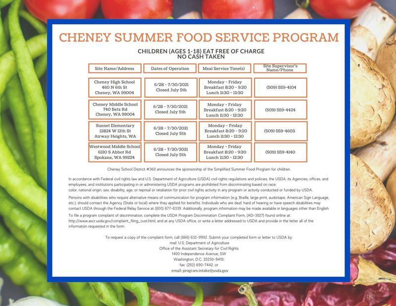Summer Food Service Program Thumbnail Image