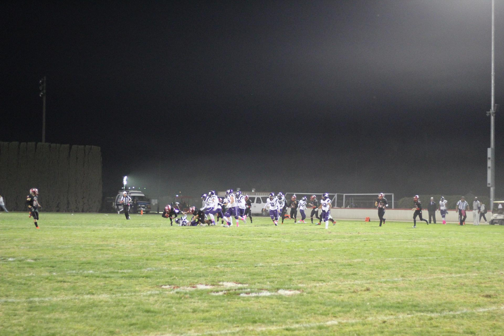 Varsity Football Playing against Washington Union