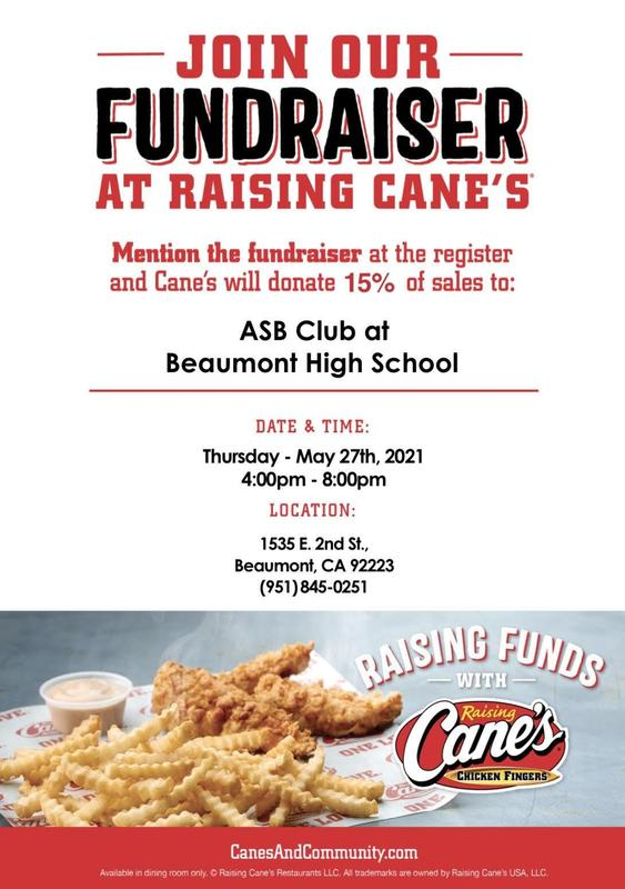 Raising Cane's Fundraiser- Class of 2023 Featured Photo