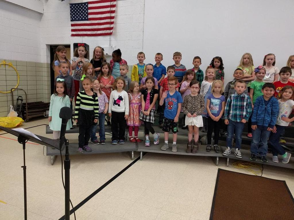 Grandparent Tea students singing