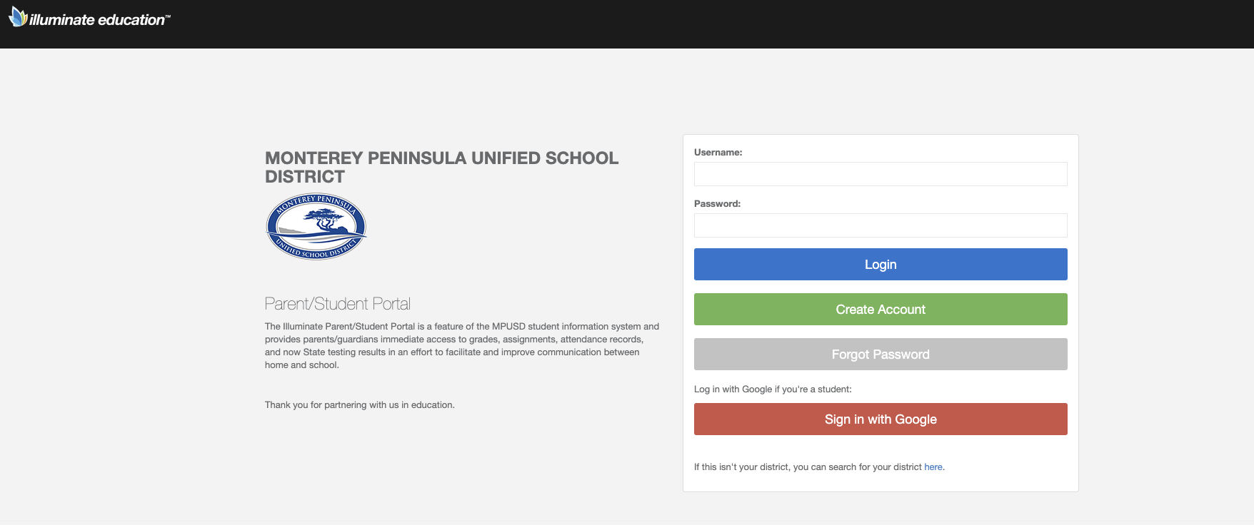 Parent Portal Access – Resources – Monterey Peninsula