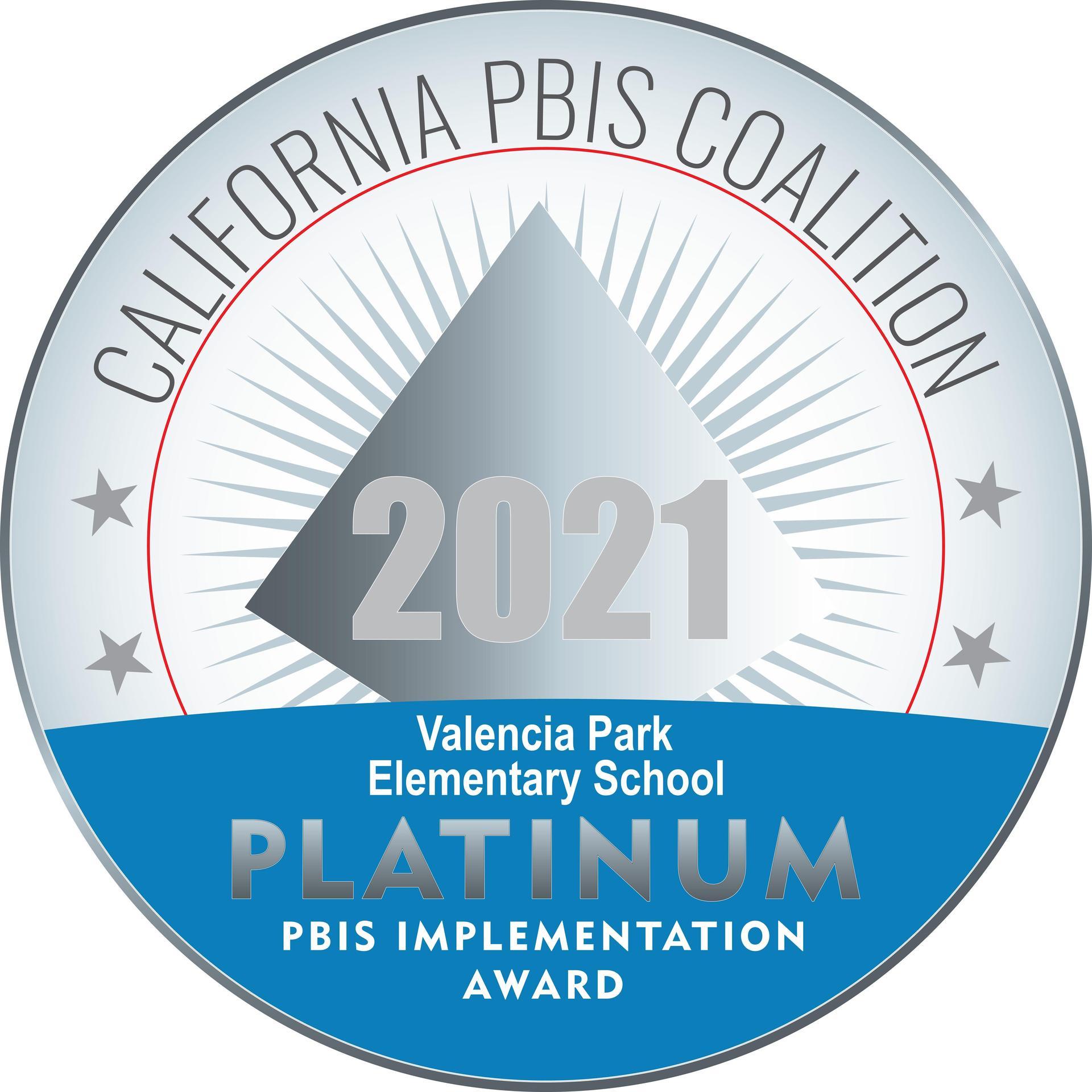 PBIS Platinum Award
