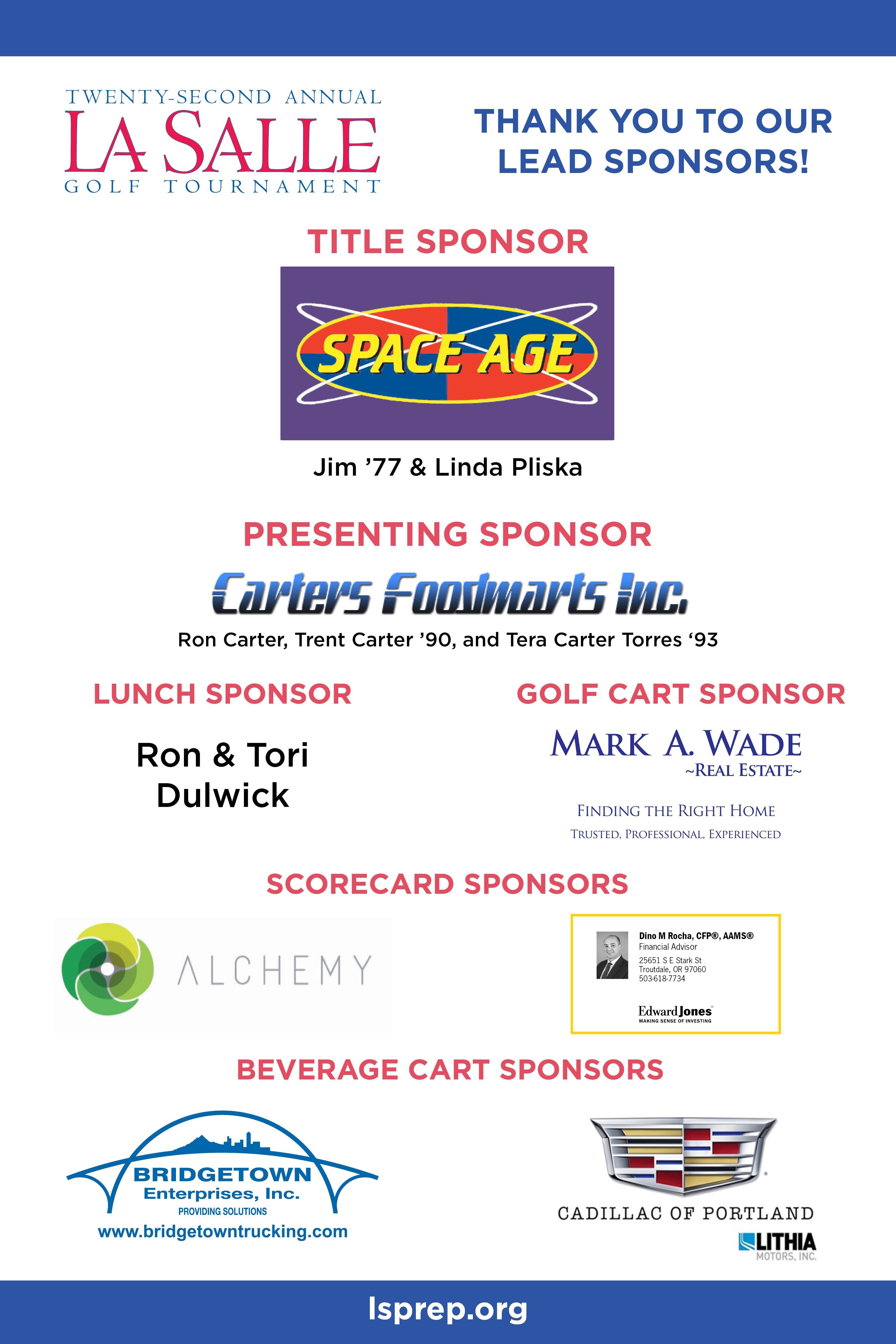 lead sponsors poster of logos