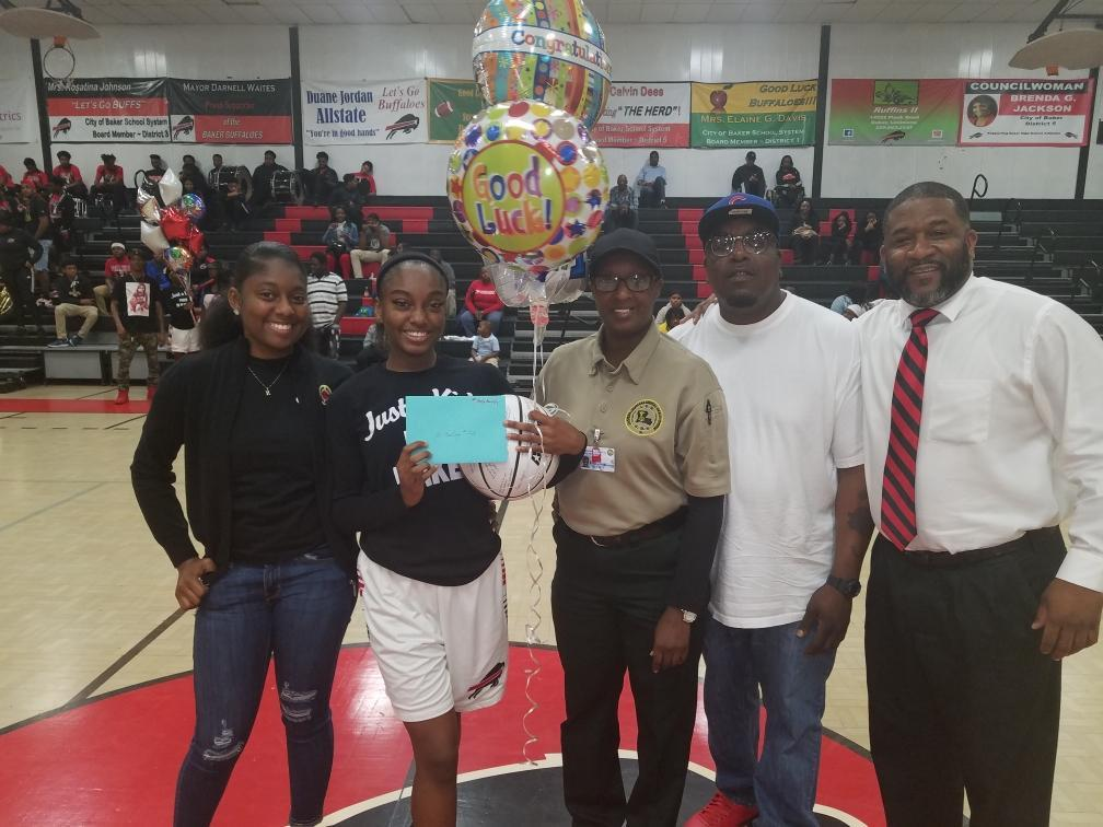 A photo of Baker High School Girls Basketball Senior Night 2019