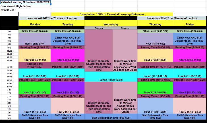 Virtual+ Bell Schedule