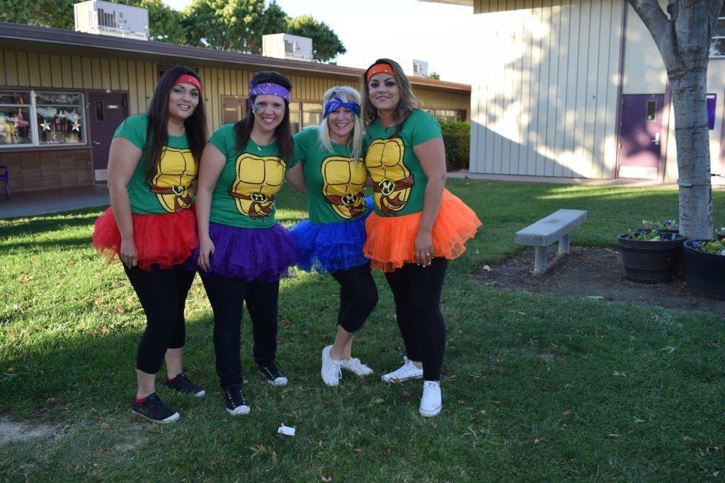Office staff dressed as ninja turtles