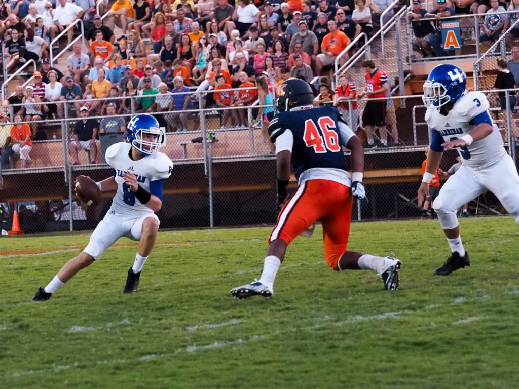 Harriman High School versus Roane County H. S. Blue Devils QB passing
