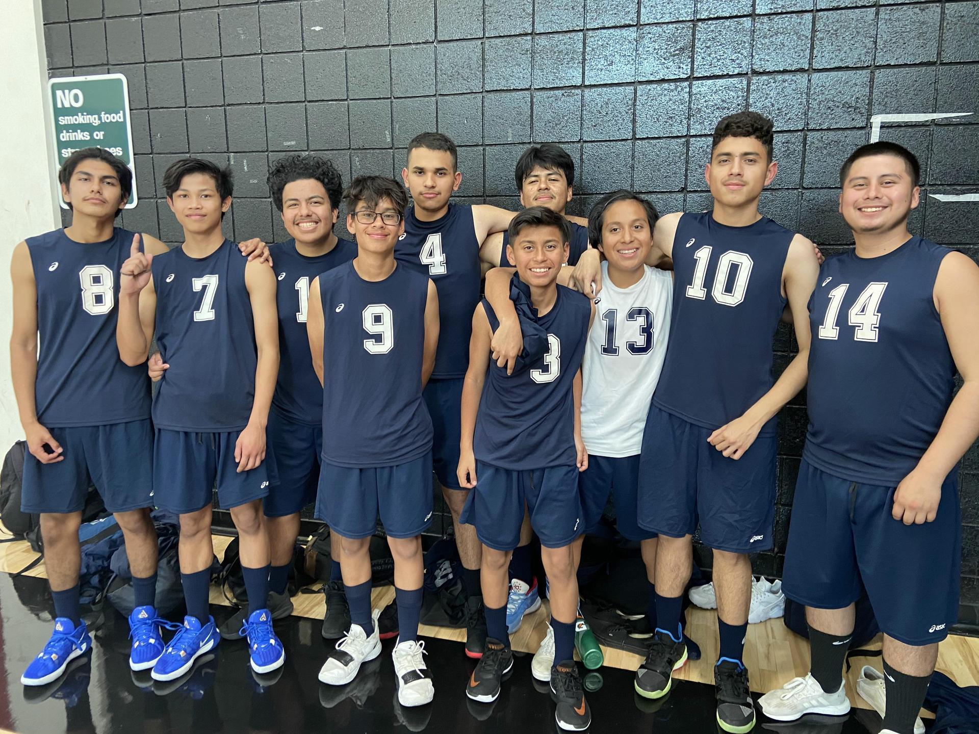 2019-2020 Boys Volleyball Team