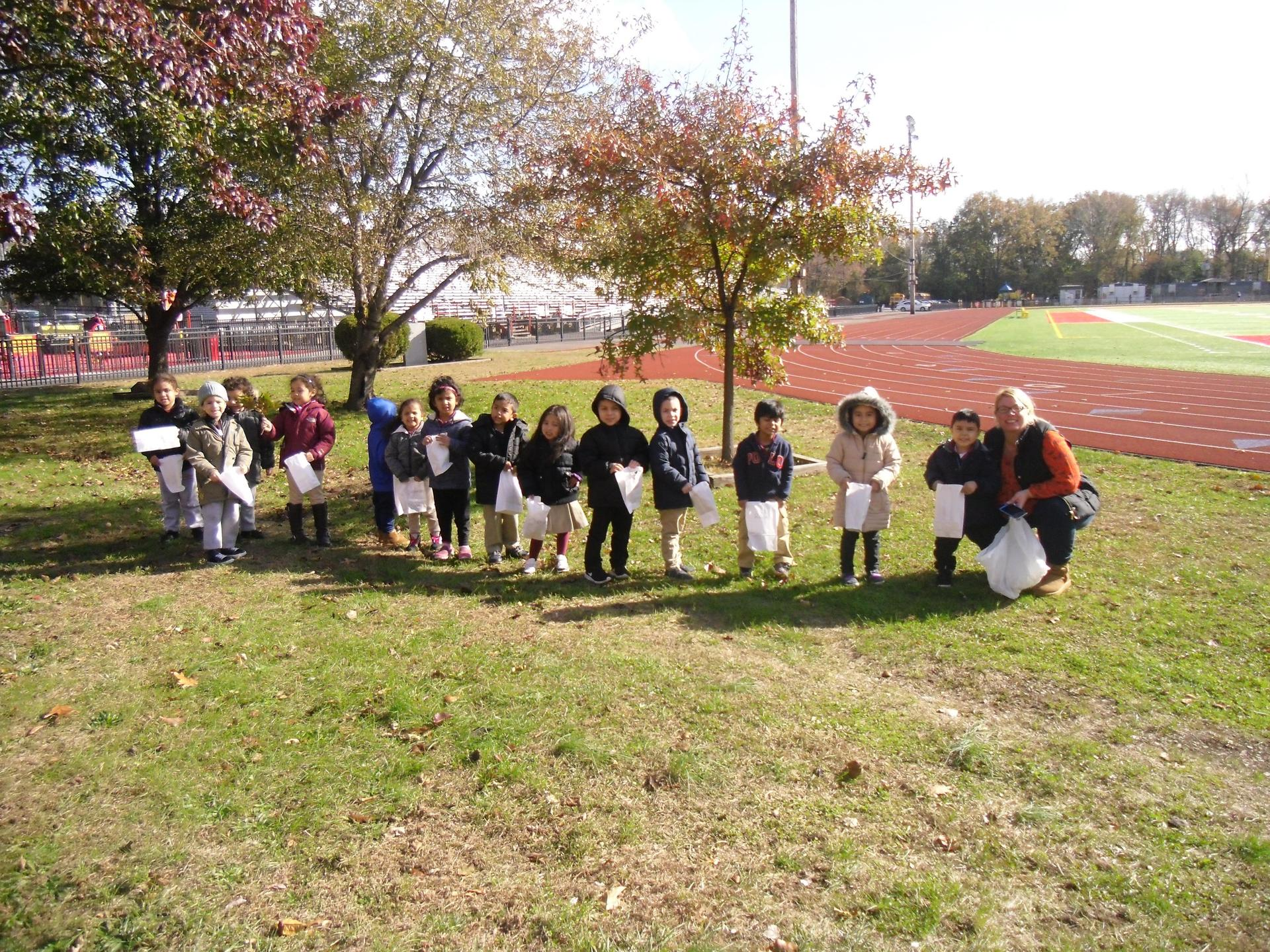 Class picture with north bergen students