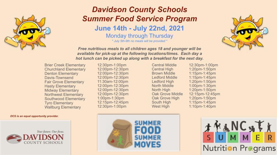 Summer Feeding Information