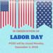 No School Monday, September 3, 2018