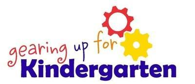 Image that reads Gearing up for Kindergarten