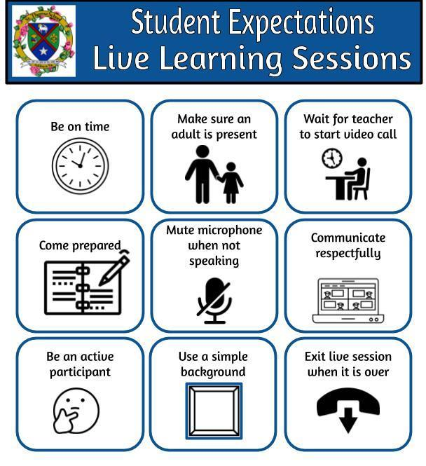 Live session guidelines