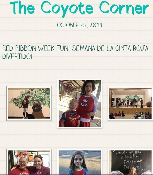 Screenshot of our October 25 newsletter