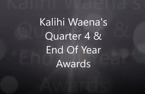 Kalihi Waena's Quarter 4 & End Of Year Awards text