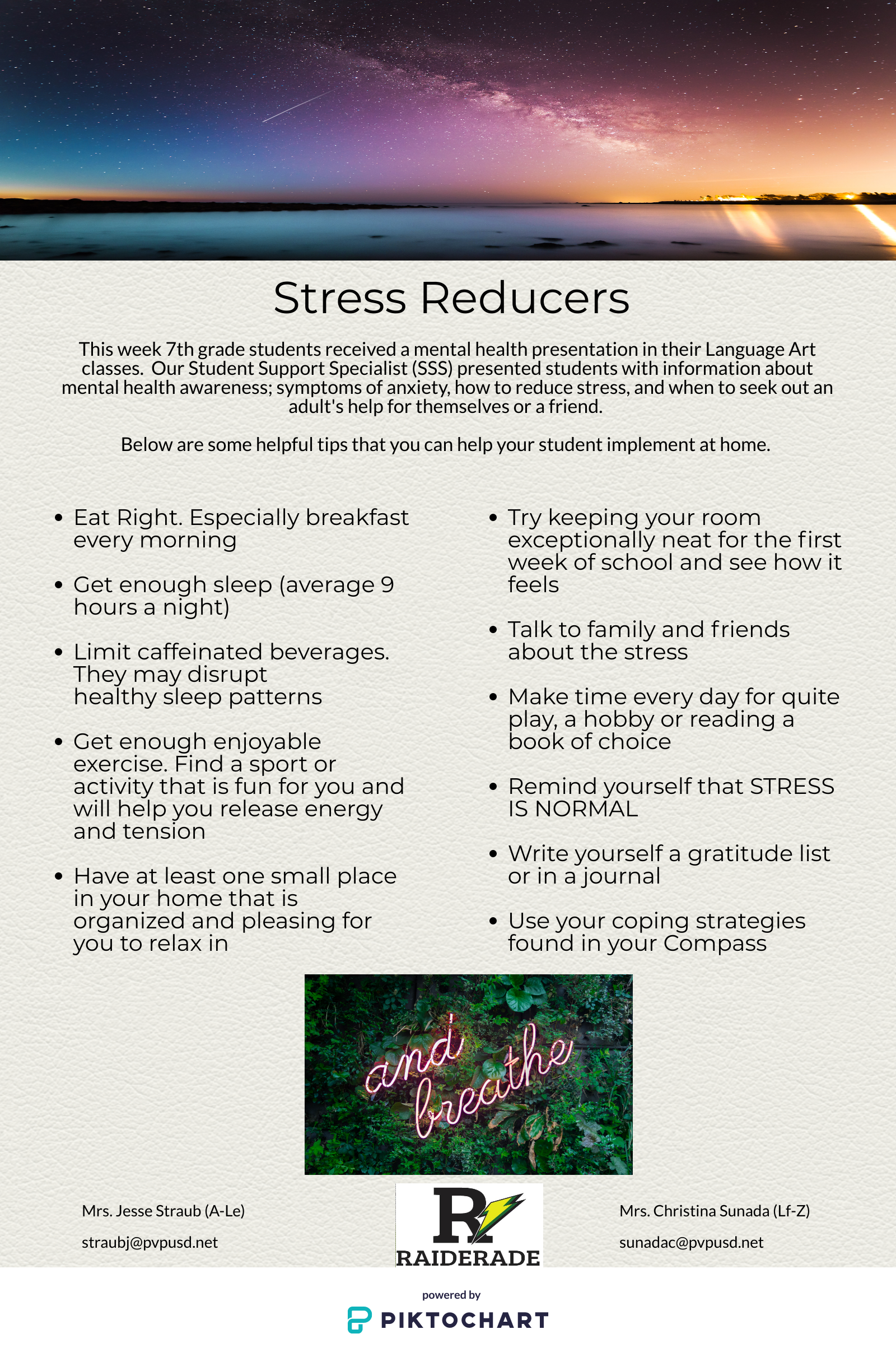 Stress Reducers Flyer