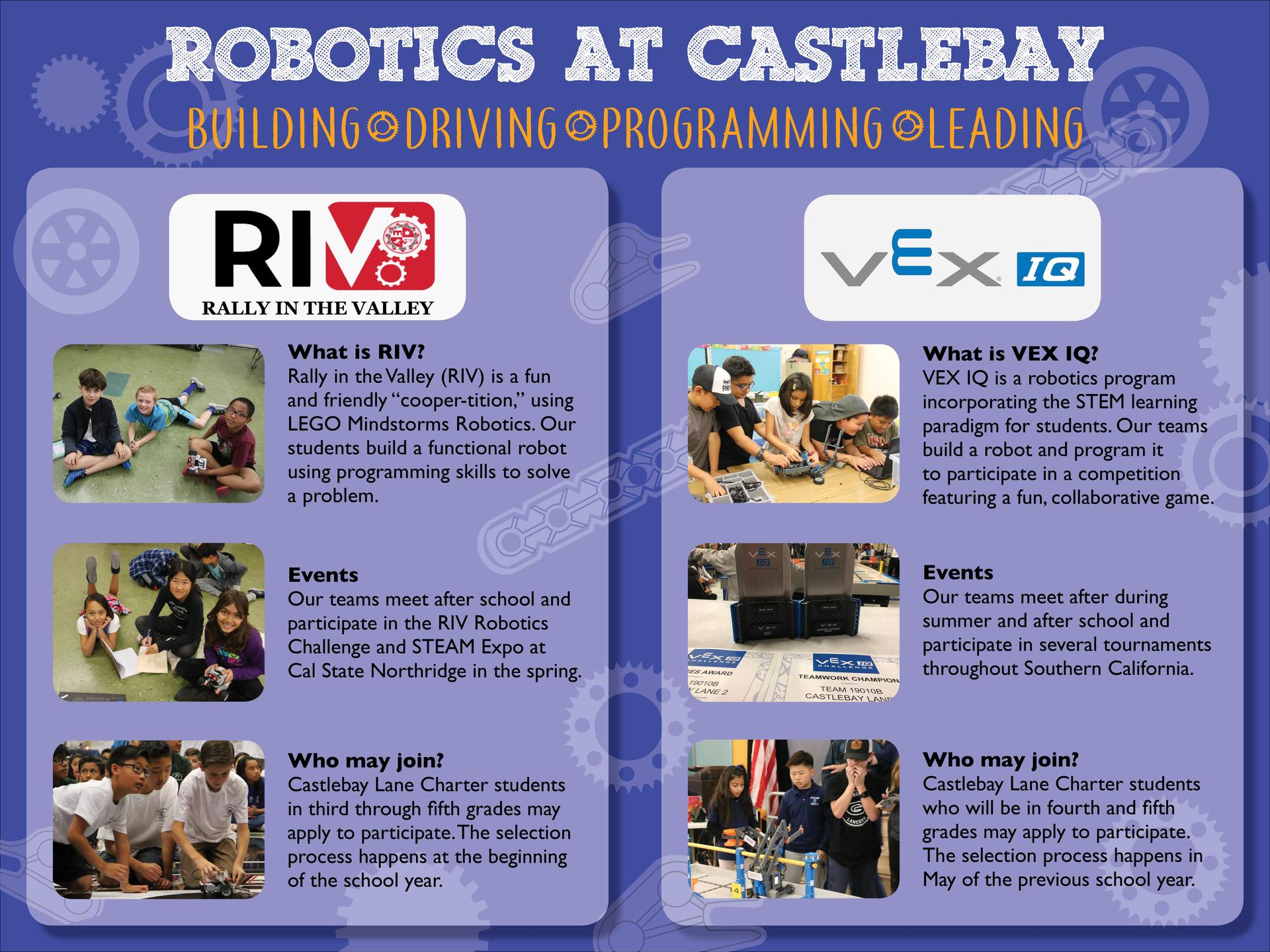 Lego Mindstorm Robotics Program – Enrichment – Castlebay