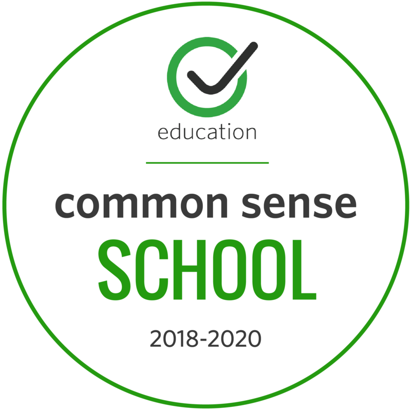 Schmitt earns the Common Sense Media badge.