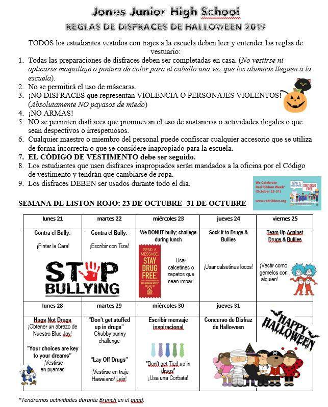Halloween Guidelines 2019- Spanish