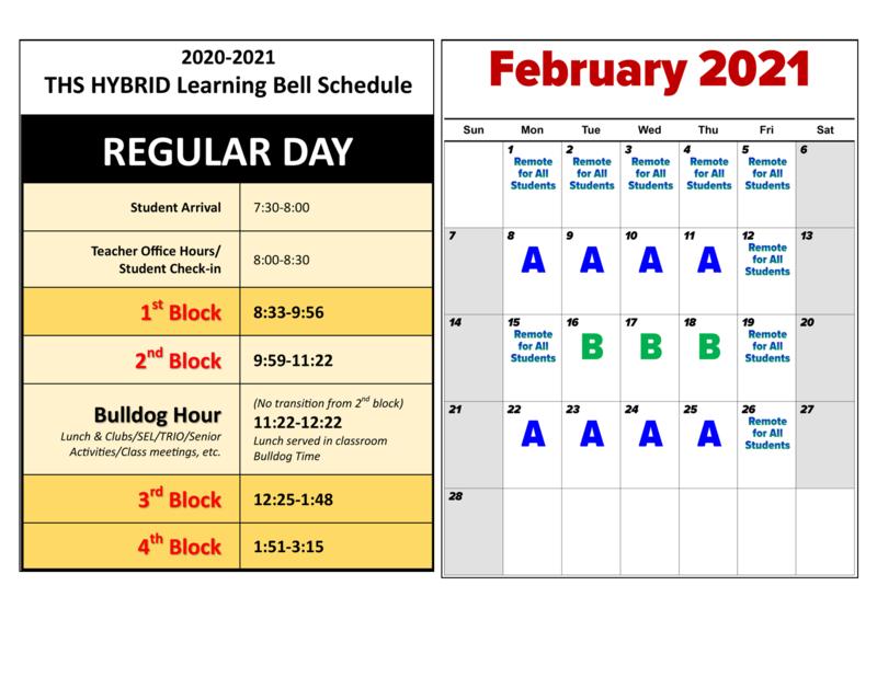 Hybrid Schedule Changes - Feb 2021