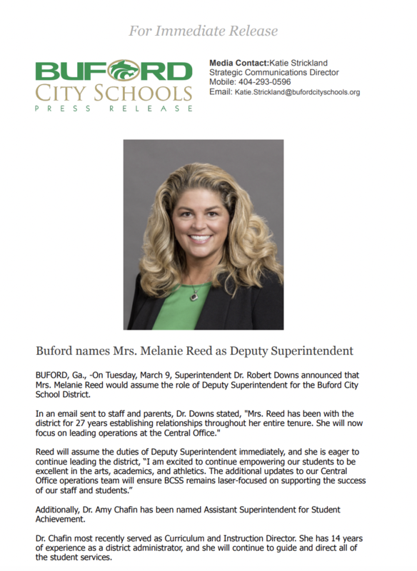 Melanie Reed Announced Deputy Superintendent