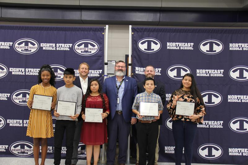 2019 REACH Scholarship Recipients pictured with their Principals and Superintendent