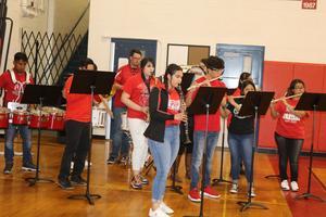 band students performing