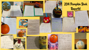 Character pumpkins and stories collage