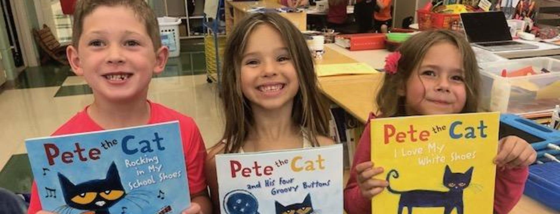 Pete the Cat in Mrs. Haab's room.