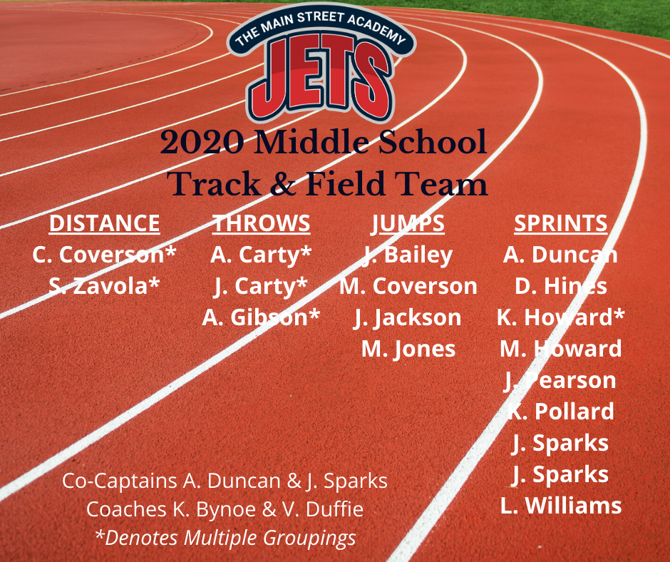 2020 Track and Field Team