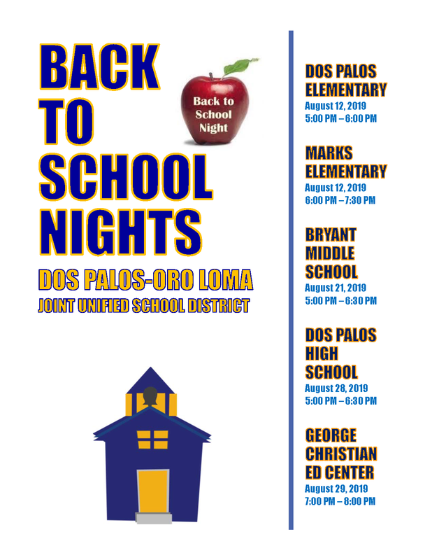 Back to School Nights Featured Photo