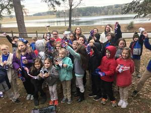 Southeast Elementary Quest Students Socktober Donation Day