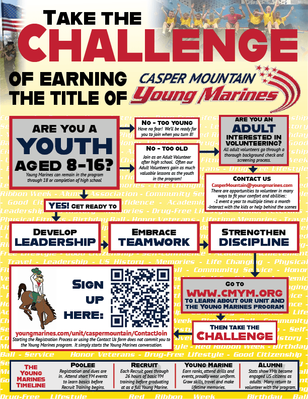 Casper Mountain Young Marines Registration Flyer