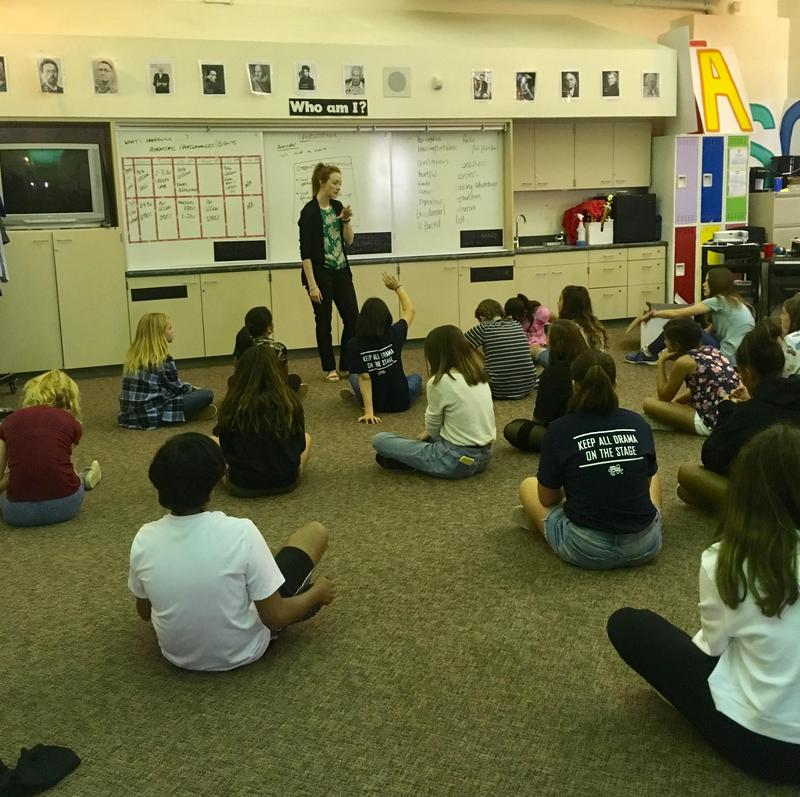 Ms. Mistry's student's prepare for an October show!