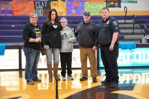 Student awarded at assembly