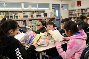 Magnolia Students Reading Books