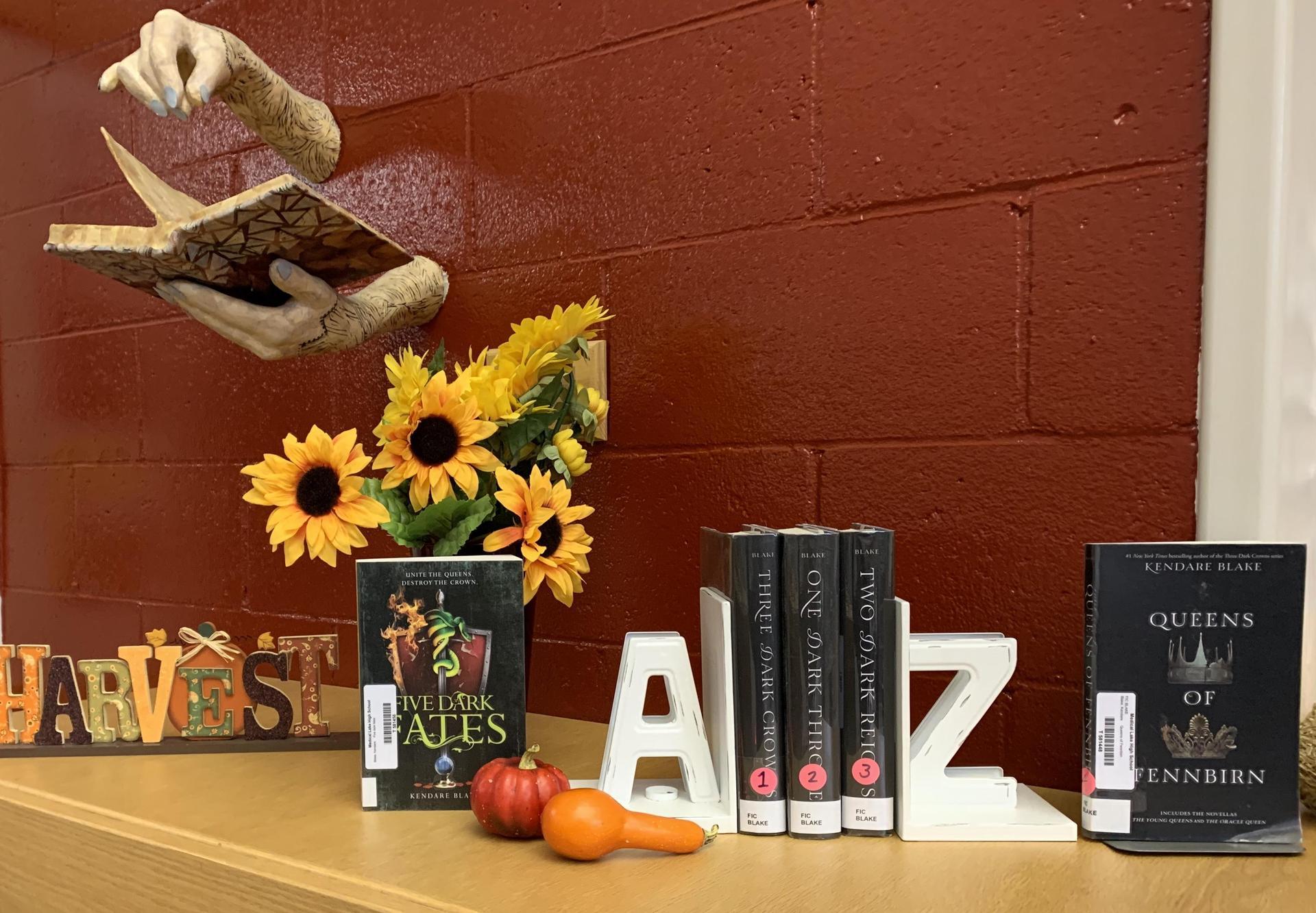 Fall book display