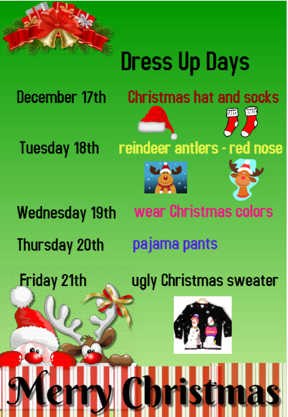 christmas dress up week