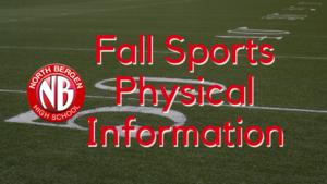 Fall Sports Updates