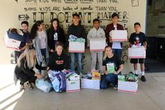 Students donated to local animal shelters