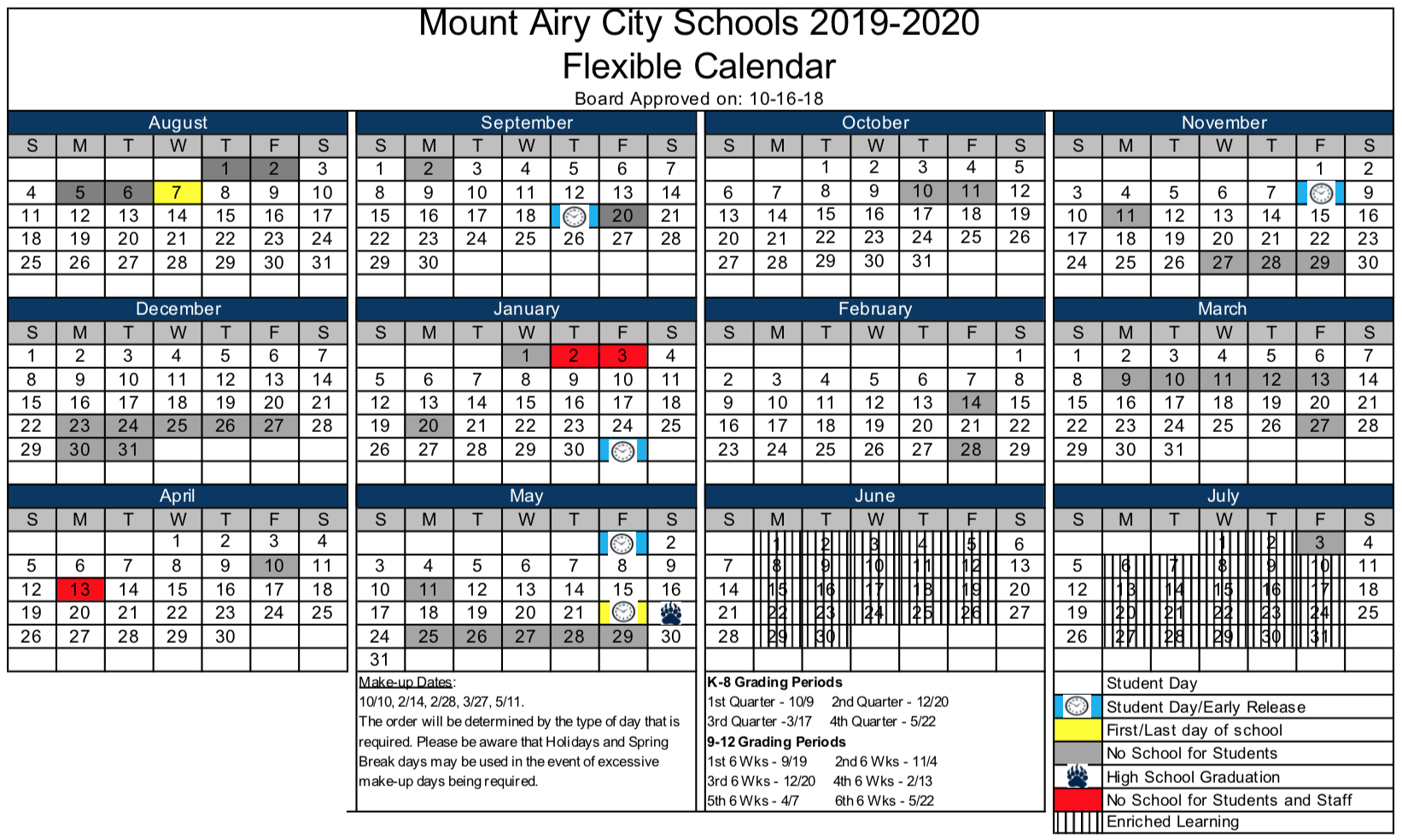 Calendars Academic Year About Mount Airy City Schools