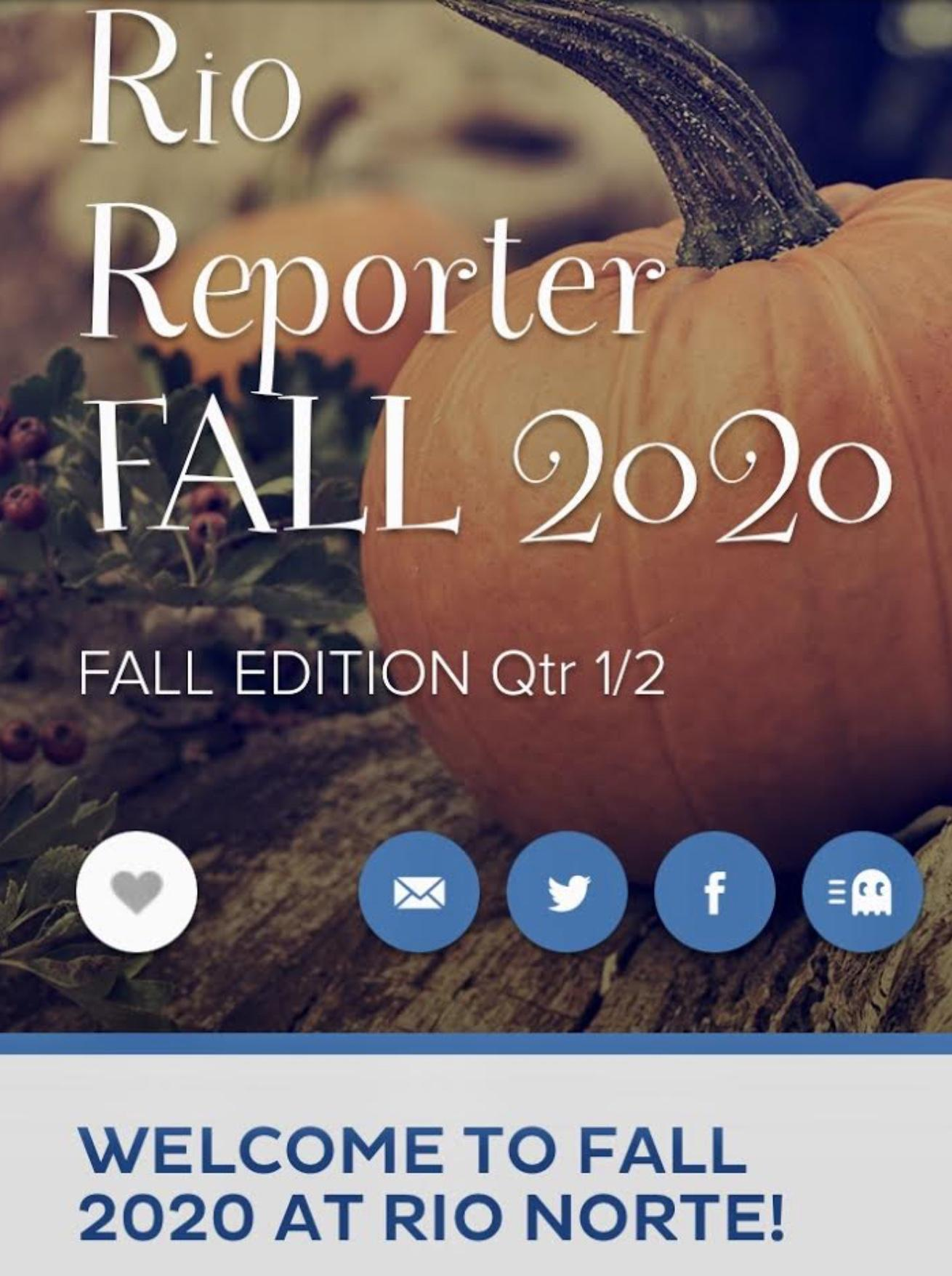 Picture of Rio Reporter Newsletter Fall 2020