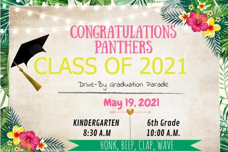 Kindergarten (8:30 a.m.) and Sixth Gr. (10:00 a.m.) Drive Thru Promotion 5/19/21 Featured Photo