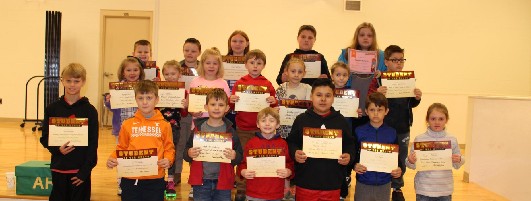 Picture of students who received the March 2019 Student of the Month Award