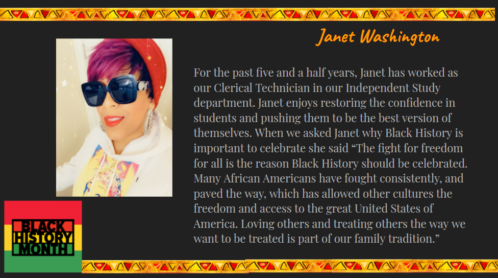 staff spotlight on Janet Washington