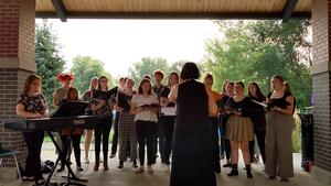 TKHS Honors Choir performed at the 9-11 ceremony.