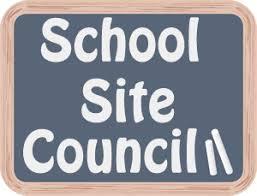 School Site Council chalkboard